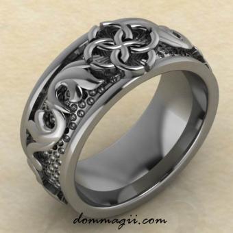 кольцо Свадебник «Верность вечным ценностям» из серебра