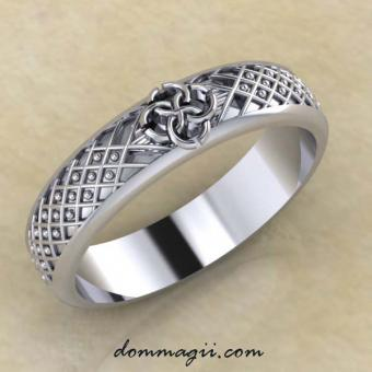 Кольцо «Засеянное поле» серебро