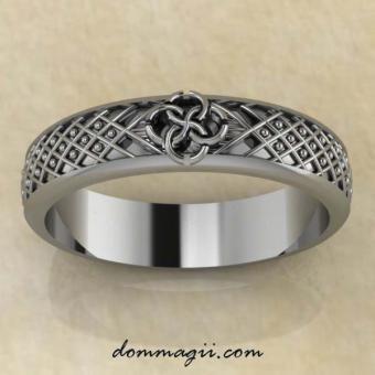 Кольцо Свадебник «Засеянное поле». Из серебра