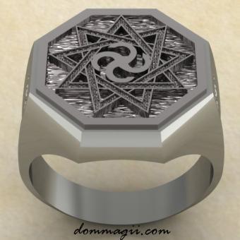 кольцо Сваор в Инглии из серебра