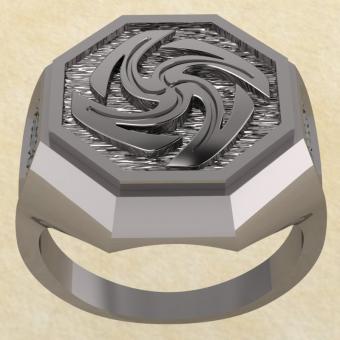 Славянское кольцо-оберег Вайга из серебра