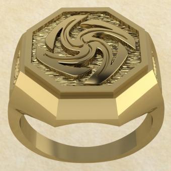 Славянское кольцо-оберег Вайга золото