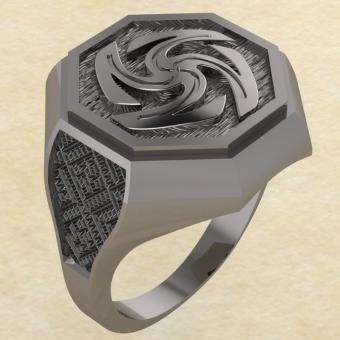 Кольцо-оберег Вайга серебро