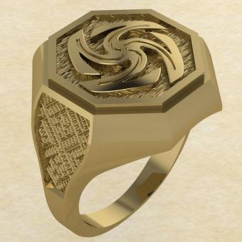 Кольцо-оберег Вайга золото