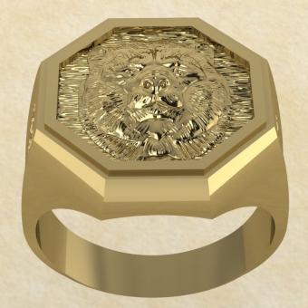Славянское Кольцо Велеса с медведем из золота
