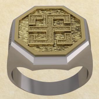 Славянское кольцо-оберег Всецлавец