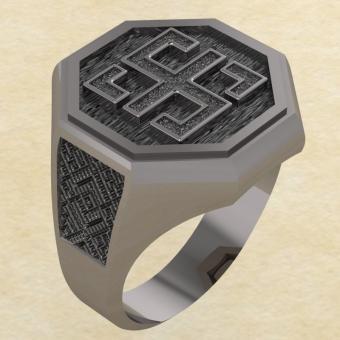 Кольцо-оберег Всецлавец серебро