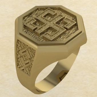 Кольцо-оберег Всецлавец золото