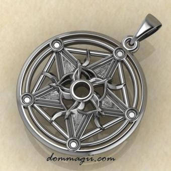 Амулет колесо фортуны из серебра