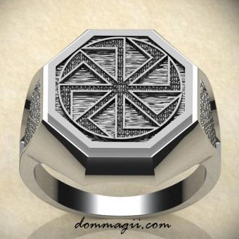 Обережное кольцо с Коловратом