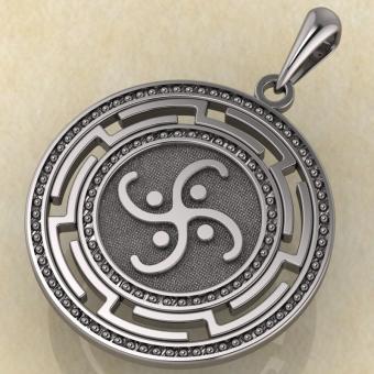 Славянский оберег «Коловрат воздушный» серебро