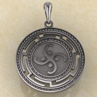 Славянская подвеска «Коловрат воздушный» серебро