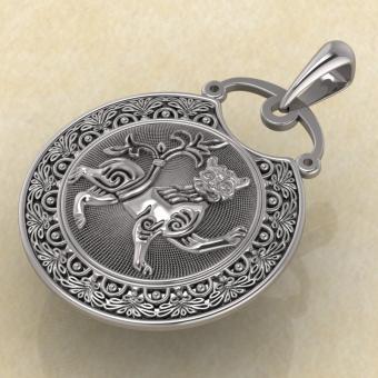 Подвеска Лев из серебра от магической лавки Брокка