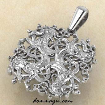 Оберег Коневик купить из серебра
