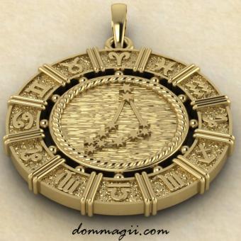 Зодиакальный знак Козерог малый из золота