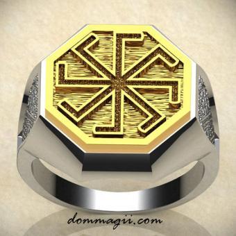 Кольцо Ладинец золото