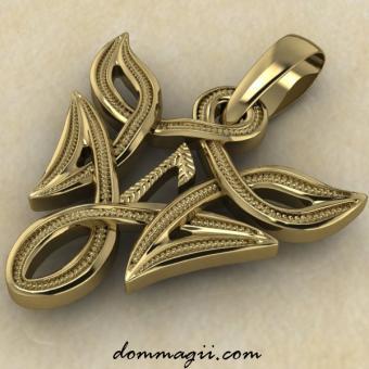 Лагуз в вязи золото