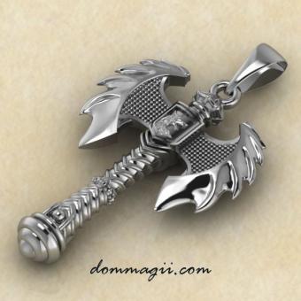 Оберег летучий топор из серебра