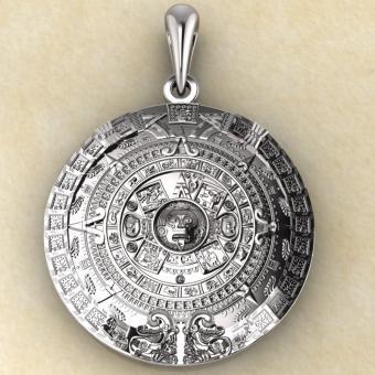 Календарь Майя из серебра