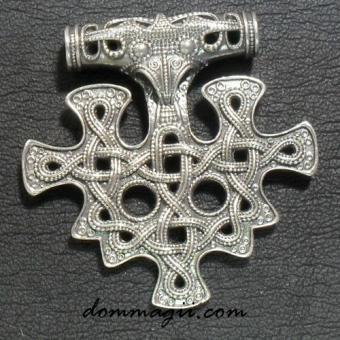 Славянский и Скандинавский Молот Тора серебро 925