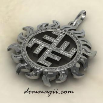 небесный крест серебро