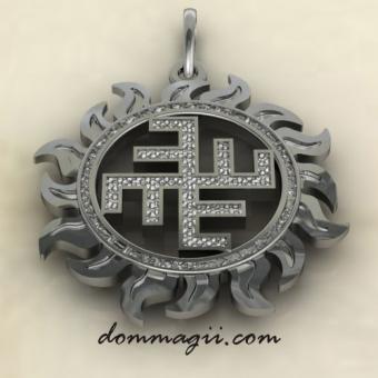 Небесный крест из серебра и золота