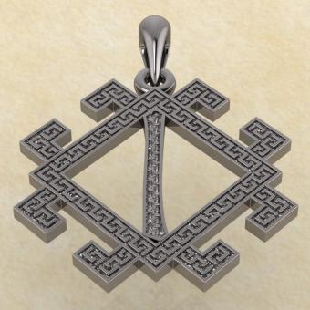 руна Исток из серебра