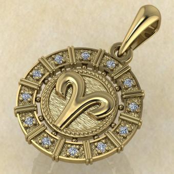 Овен золото с бриллиантами