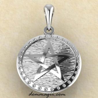 Амулет Пентограмма из серебра купить