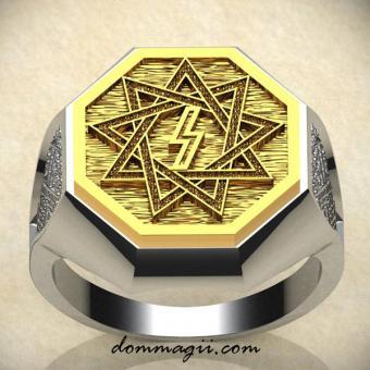 Кольцо перуница золото