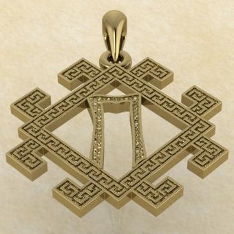 руна Перун золото