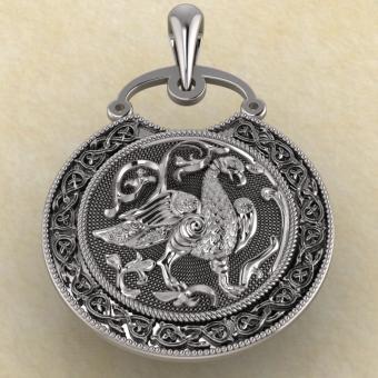 Подвеска Суздальская Птица серебро