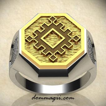Славянское кольцо репейник счастья