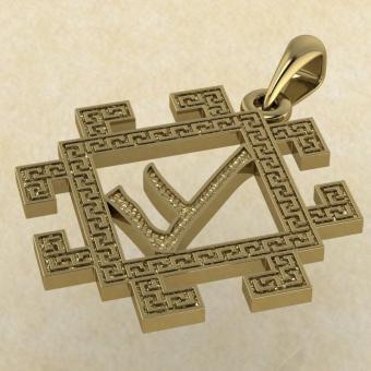 Подвеска Славянская руна Есть из золота