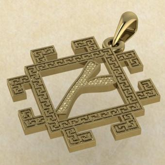 Подвеска Славянская руна Крада из золота