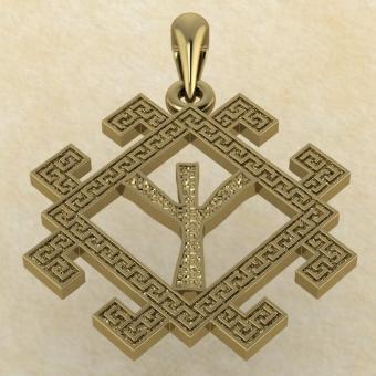руна Мир из золота