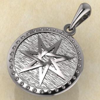 Подвеска Септаграмма серебро