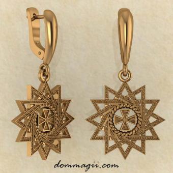 Серьги Звезда Эрцгаммы из красного золота