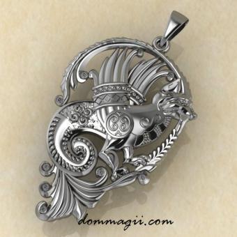 Симарг малый из серебра