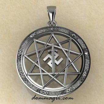 Оберег символ Расы серебро