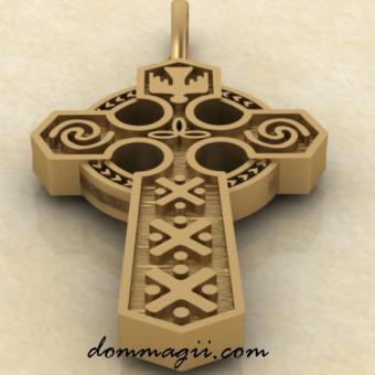 Славянский крест из золота
