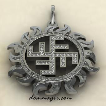 Солнечный крест из серебра