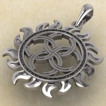 Оберег свадебник из серебра