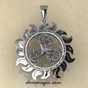 Оберег Трикселион Кельтский серебро