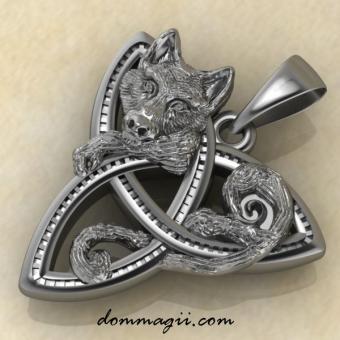 Трикселион с волком серебро