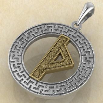 Руна «ТУРИСАЗ» в солярном обережном круге с золотом