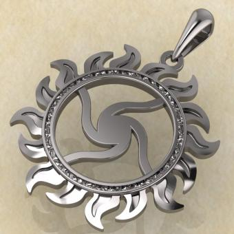 Оберег Велесовик серебро