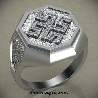 Кольцо боговник серебро