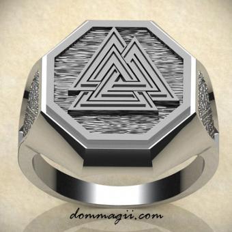 Обережное кольцо с Валькнутом