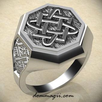 Кольцо со звездой Лады